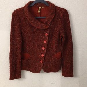 209 red sweater size small